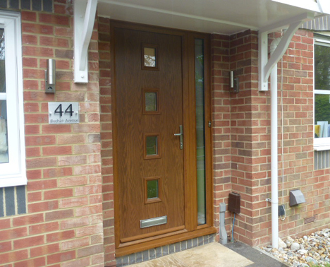 replacement doors, oak effect composite door, contemporary traditional