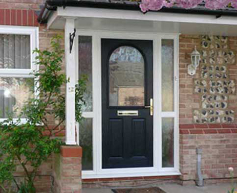 replacement composite door with side panels