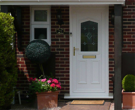 replacement white PVCU DOOR